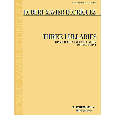 G. Schirmer Three Lullabies (for Solo Guitar) Guitar Series