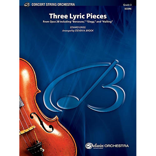 Alfred Three Lyric Pieces String Orchestra Grade 3 Set