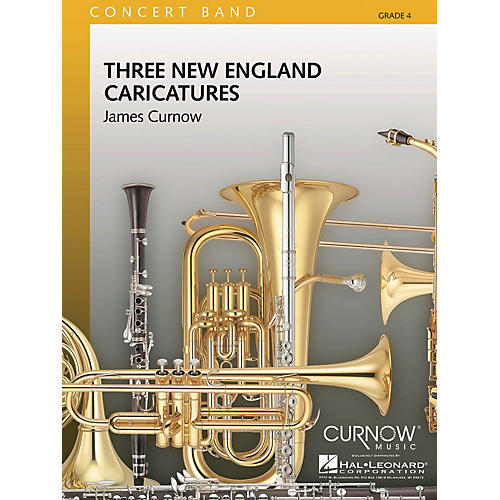 Curnow Music Three New England Caricatures (Grade 4 - Score and Parts) Concert Band Level 4 Composed by James Curnow