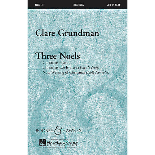 Boosey and Hawkes Three Noels Full Score Composed by Clare Grundman