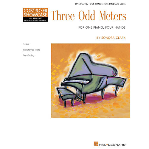 Hal Leonard Three Odd Meters Piano Library Series Book by Sondra Clark (Level Inter)