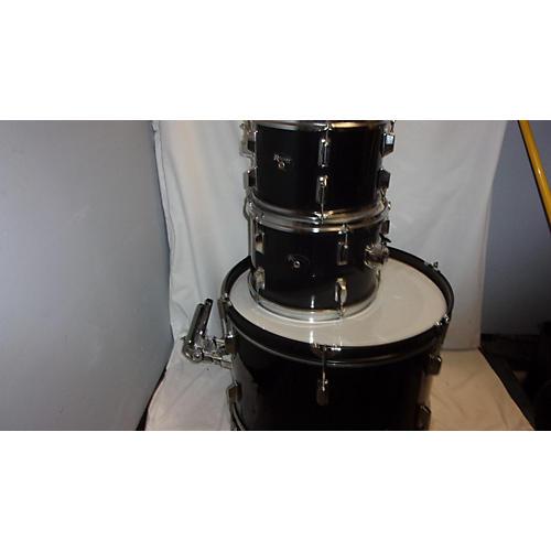 Rogers Three Piece Drum Kit Black