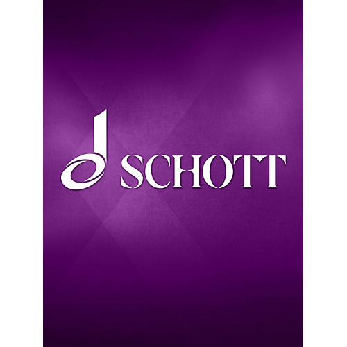 Schott Three Pieces for 6 Parts (Performance Score) Schott Series by Josquin des Près