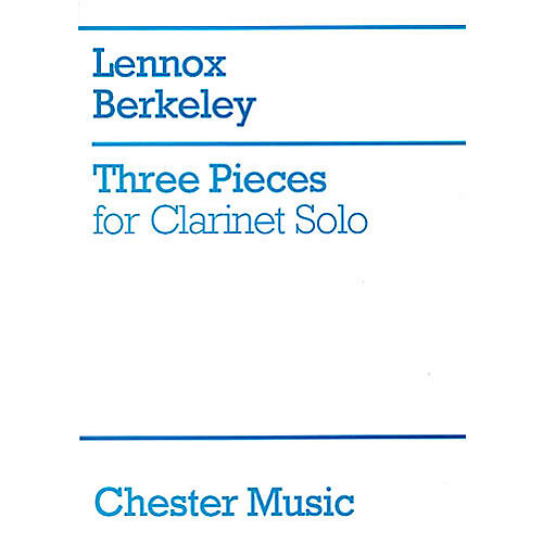 Chester Music Three Pieces for Clarinet Solo Music Sales America Series