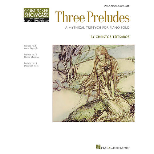 Hal Leonard Three Preludes Piano Library Series Book by Christos Tsitsaros (Level Early Advanced)