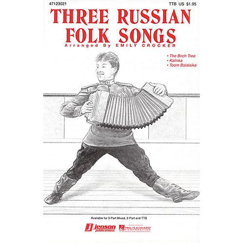Hal Leonard Three Russian Folk Songs (Medley) 2-Part Arranged by Emily Crocker