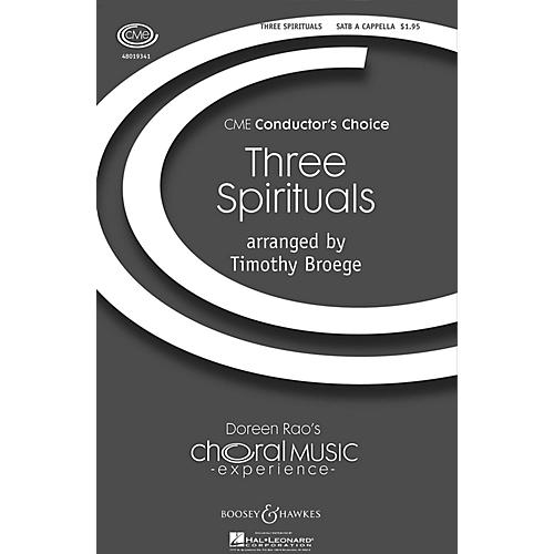 Boosey and Hawkes Three Spirituals (CME Conductor's Choice) SATB a cappella arranged by Timothy Broege