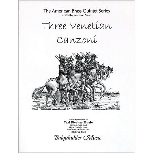 Carl Fischer Three Venetian Canzoni Book