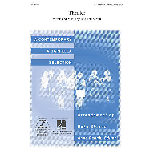 Hal Leonard Thriller SATB DV A Cappella arranged by Deke Sharon