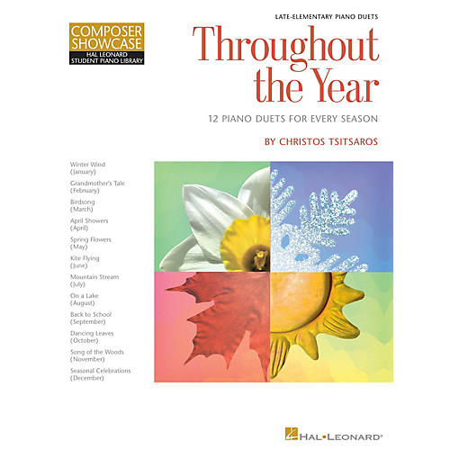 Hal Leonard Throughout the Year Piano Library Series Book by Christos Tsitsaros (Level Late Elem)