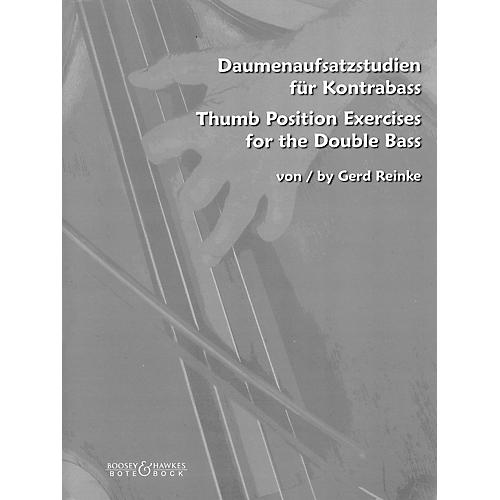 Bote & Bock Thumb Position Exercises for the Double Bass Softcover by Gerd Reinke
