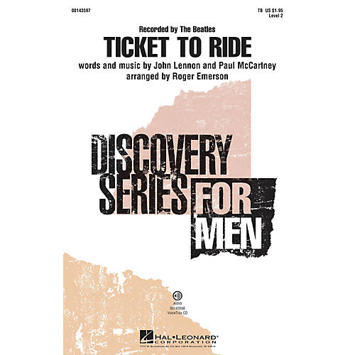 Hal Leonard Ticket To Ride (Discovery Level 2) TB by The Beatles arranged by Roger Emerson