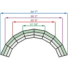 Tiered Tapered Standing Choral Risers 2 Level, Hardboard