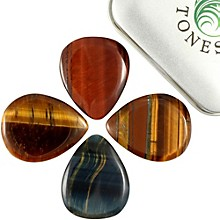 Timber Tones Tiger Tones Mixed Tin of 4 Guitar Picks