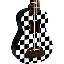 Tiki Soprano Ukulele Checker Board