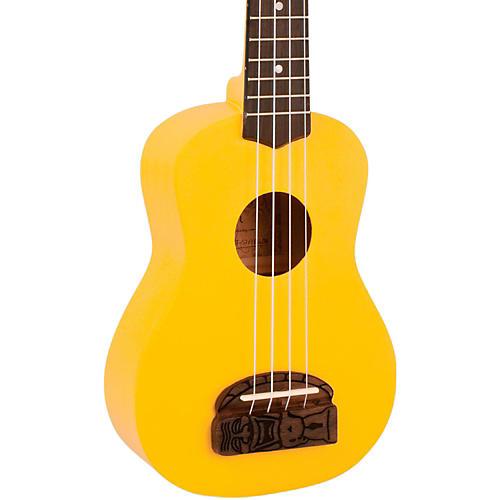 Kohala Tiki Soprano Ukulele Yellow