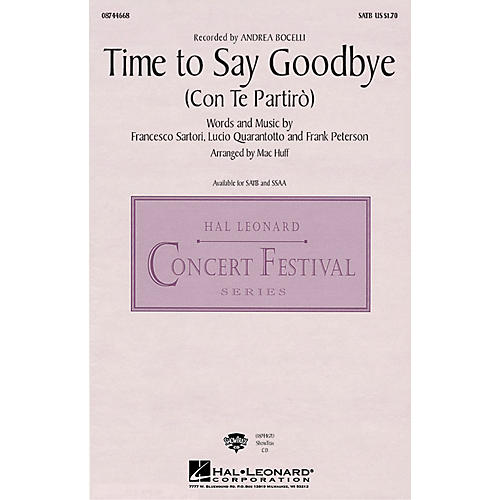 Hal Leonard Time to Say Goodbye (Con Te Partiro) ShowTrax CD by Sarah Brightman Arranged by Mac Huff