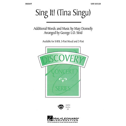 Hal Leonard Tina Singu (Sing It!) 3-Part Mixed Composed by Mary Donnelly