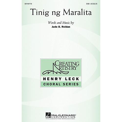 Hal Leonard Tinig ng Maralita SAB composed by Jude Roldan