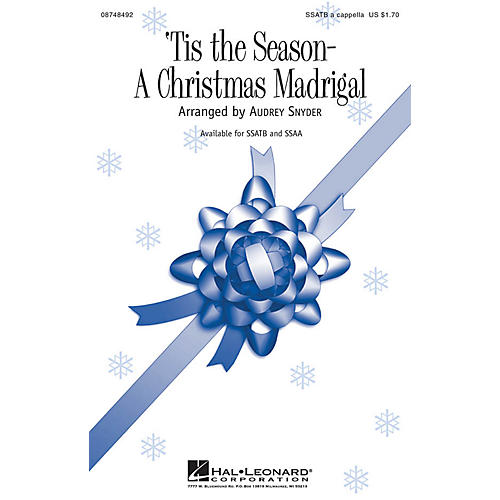 Hal Leonard Tis the Season - A Christmas Madrigal SSATB A Cappella arranged by Audrey Snyder