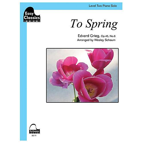SCHAUM To Spring, Op. 45, No. 6 Educational Piano Series Softcover
