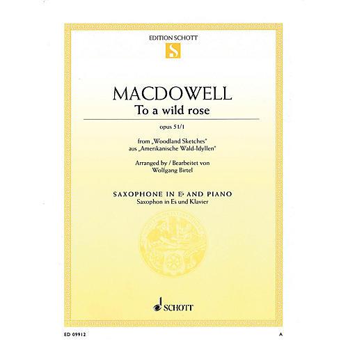 Schott To a Wild Rose from Woodland Sketches, Op 51, No. 1 Schott Series Book  by Edward MacDowell