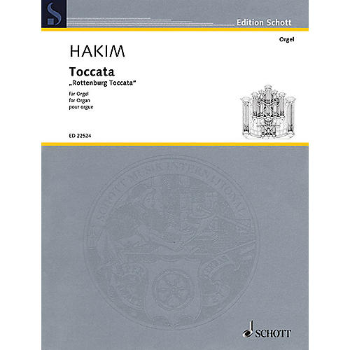 Schott Toccata (Rottenburg Toccata for Organ) Organ Large Works Series Softcover