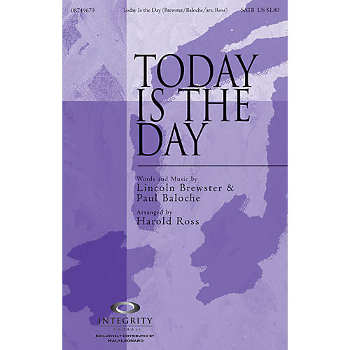 Integrity Choral Today Is the Day CD ACCOMP Arranged by Harold Ross