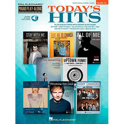 Hal Leonard Today's Hits - Piano Play-Along Volume 132 Book/Online Audio