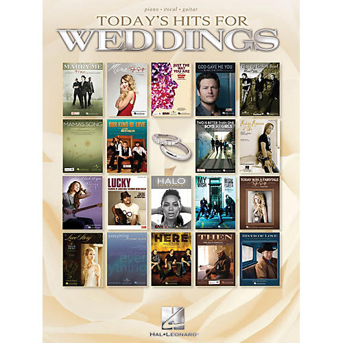 Hal Leonard Today's Hits For Weddings P/V/G Songbook