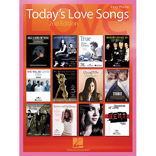 Hal Leonard Today's Love Songs 2nd Edition for Easy Piano