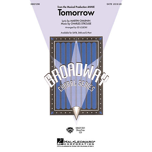 Hal Leonard Tomorrow (from Annie) 2-Part Composed by Charles Strouse