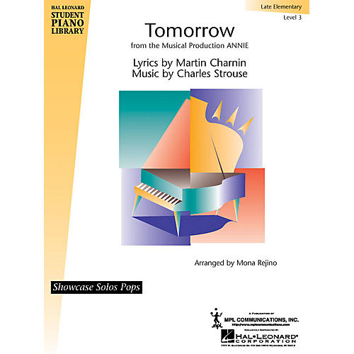 Hal Leonard Tomorrow (from Annie) Piano Library Series by Charles Strouse (Level Late Elem)