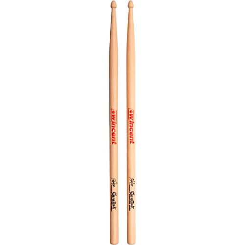 Wincent Tomoya Hickory Drum Sticks, White (Pair)