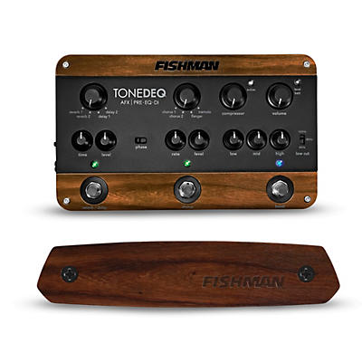 Fishman ToneDEQ Preamp EQ and Neo-D Passive Soundhole Guitar Pickup