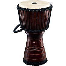 Tongo Carved Rope Tuned Mahogany Djembe 10 in.