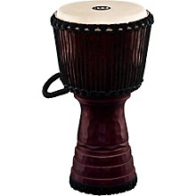 Tongo Carved Rope Tuned Mahogany Djembe 12 in.