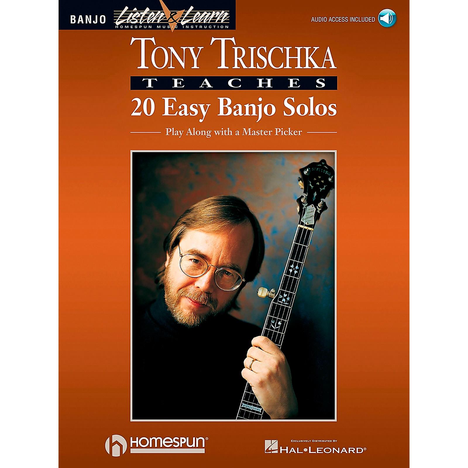 Homespun Tony Trischka Easy Banjo Solos CD/Pkg Listen & Learn