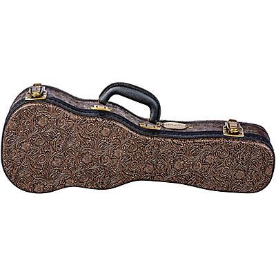 Luna Guitars Tooled Leather Soprano Ukulele Hard Case