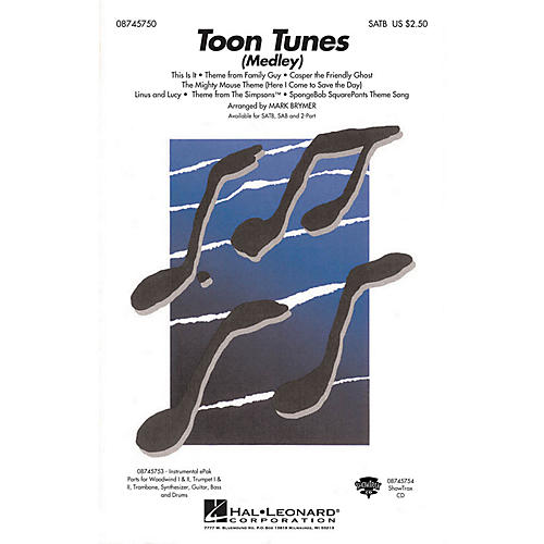Hal Leonard Toon Tunes SAB Arranged by Mark Brymer