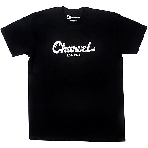 Charvel Toothpaste Logo Black T-Shirt Medium