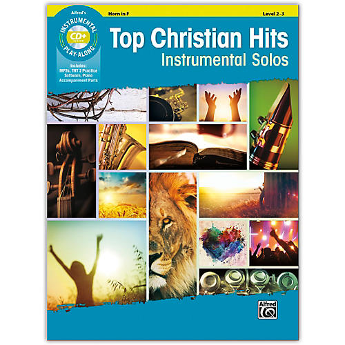 Alfred Top Christian Hits Instrumental Solos Horn in F Book & CD Level 2--3