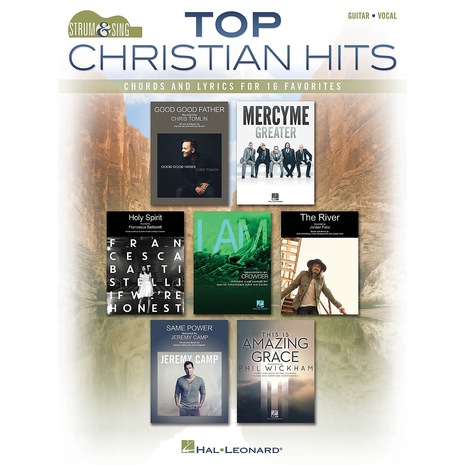 Hal Leonard Top Christian Hits Strum and Sing Series Softcover Performed by Various