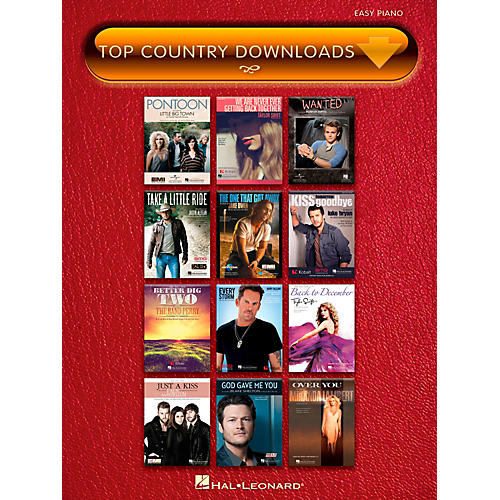 Hal Leonard Top Country Downloads for Easy Piano