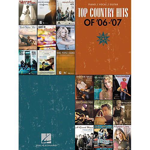 Hal Leonard Top Country Hits Of '06-'07 Songbook for Piano/Vocal/Guitar