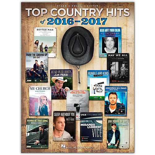 Hal Leonard Top Country Hits Of 2016-2017 For Guitar Piano