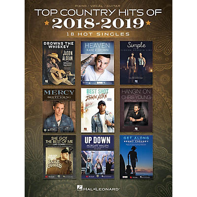 Hal Leonard Top Country Hits of 2018-2019 (18 Hot Singles) Piano/Vocal/Guitar Songbook