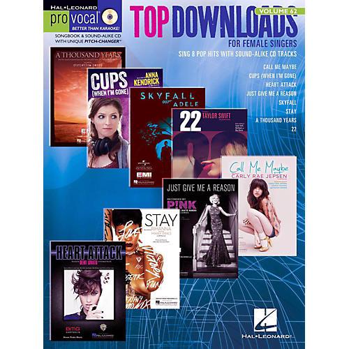 Hal Leonard Top Downloads - Pro Vocal Songbook & CD For Female Singers Vol. 62