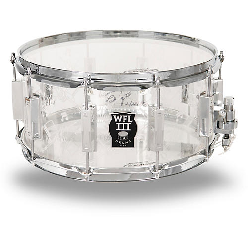WFL Top Hat and Cane Collector's Acrylic Snare Drum with Chrome Hardware