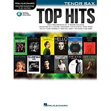 Hal Leonard Top Hits For Tenor Sax - Instrumental Play-Along Book/Online Audio